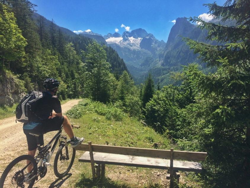 Mountainbiken Gosausee Ebenalm